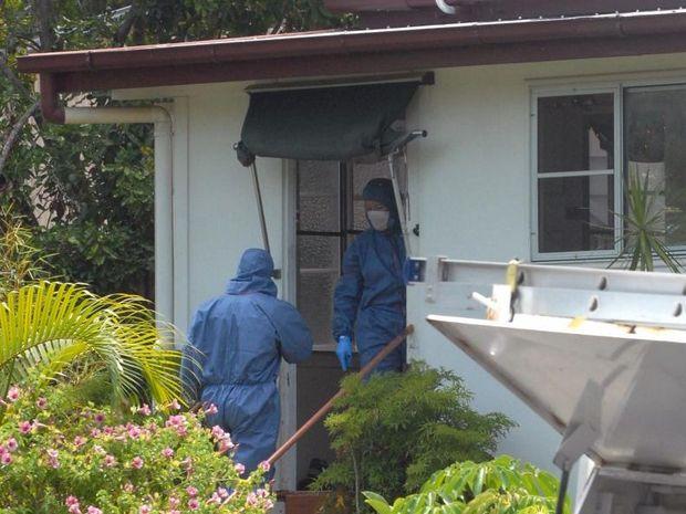 Police investigating the Slade Point crime scene where Darlene Saltner was murdered in 2008.