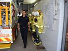 FIREFIGHTERS: Firefighter Paul Sanders at the end of th e shift. photo Lea Emery / Fraser Coast Chronicle