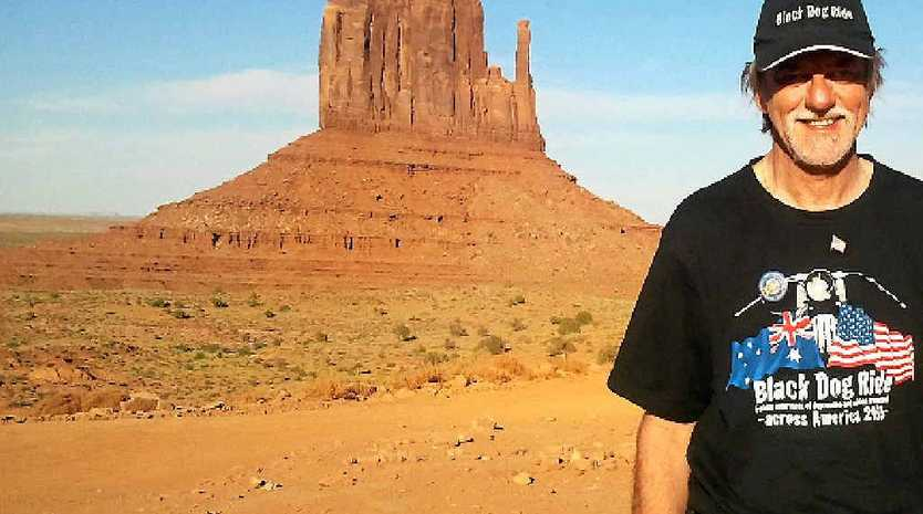 WHAT A JOURNEY: Charles Linsley at Monument Valley, Utah.