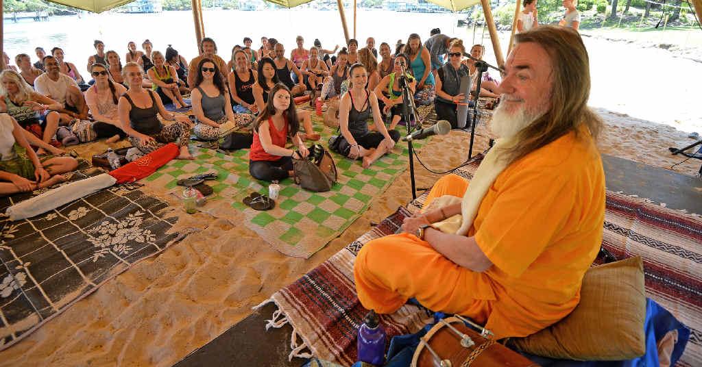 NEW DIRECTION: Ji Living teaches timeless yoga wisdom and meditation at Wanderlust Festival. Pictured is Swami Govindananda.