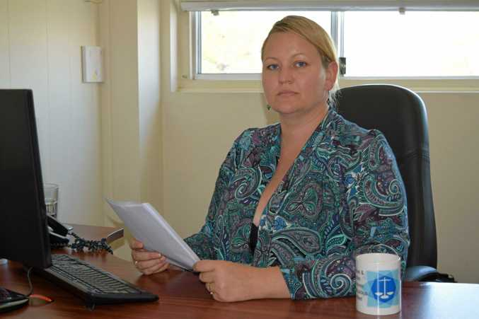 Criminal lawyer Kylie Rose of Kylie Rose and Associates in her Murwillumbah office. She has called for the NSW state government to fund Murwillumbah Court House to have it's sitting days re-instated.