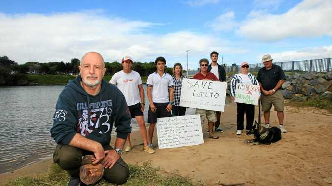 Save Lot 490 Coalition: Jerry Cornford at Cudgen Creek. Protesting about development. Photo: John Gass  / Daily News