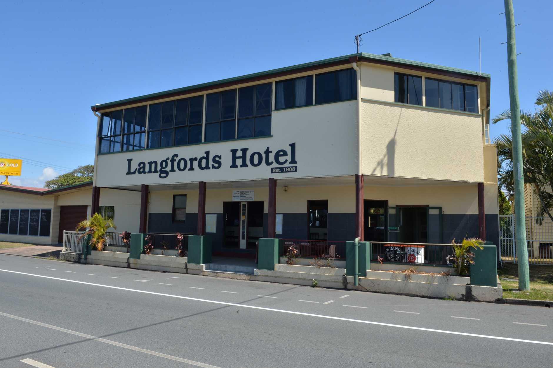 Langford's Hotel.
