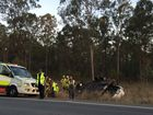 There is a report of a single-vehicle rollover on the Cunningham Highway near the Flinders View exit.