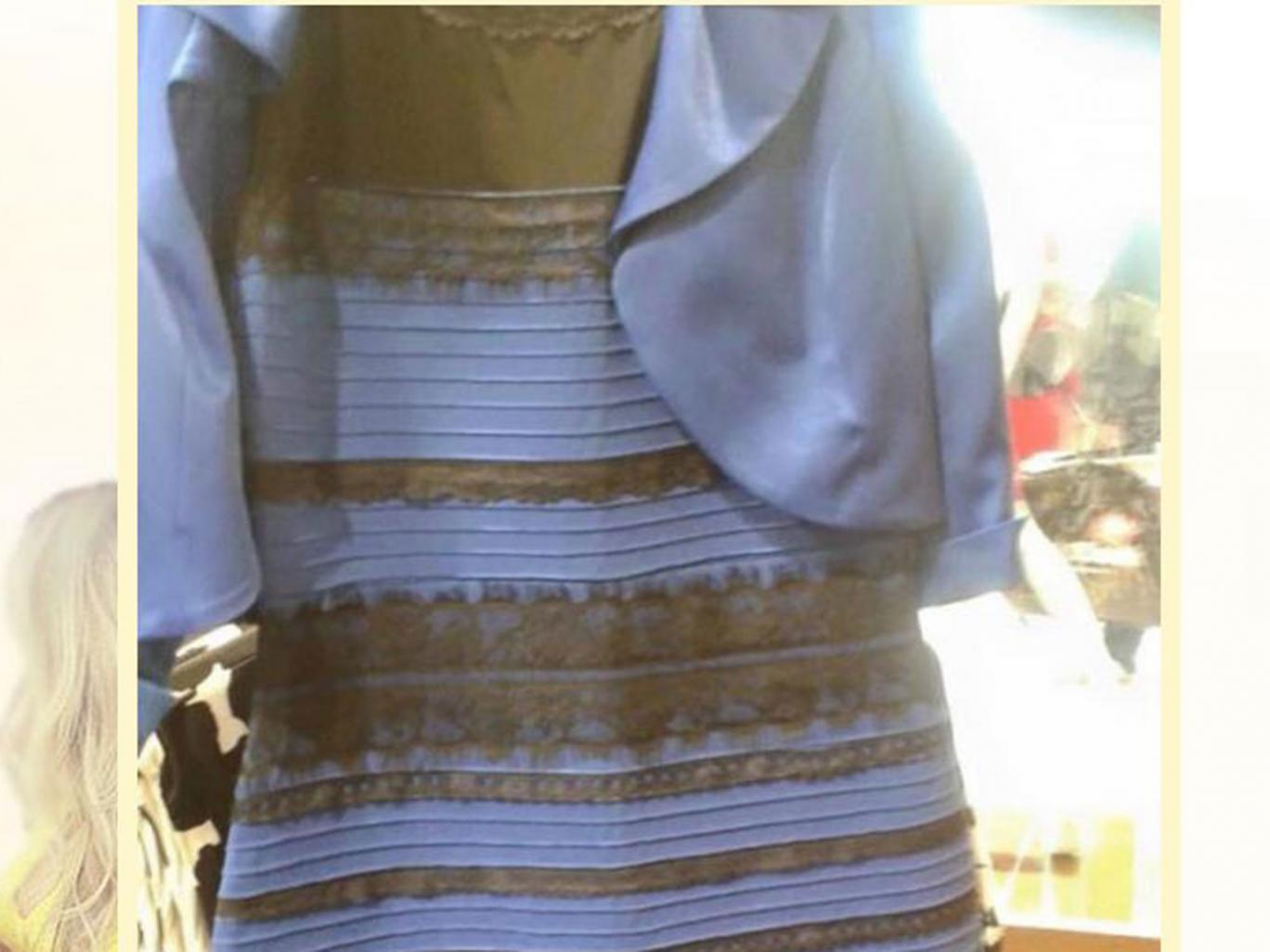 The dress that confused the world. Blue and black or white and gold?