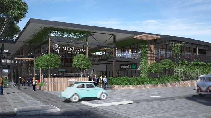 An artists impression of the planned Mercato on Byron shopping centre.