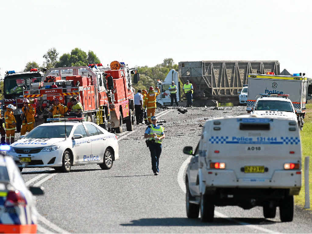 DOUBLE FATAL: Two people died in a three-vehicle accident 10 minutes south of Broadwater on the Pacific Highway.