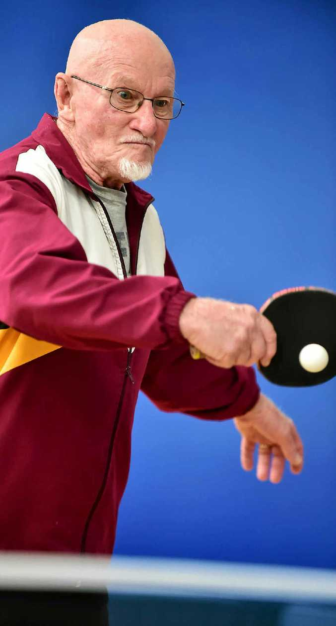 INSPIRATIONAL: Veteran table tennis player John Davis.