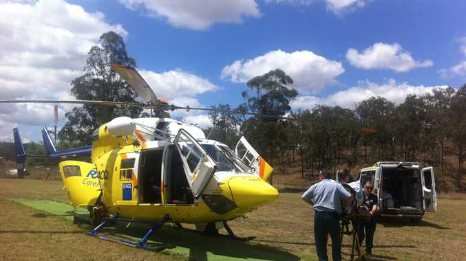 RIDERS AIRLIFTED: Two motocross riders were airlifted on Sunday by RACQ CareFlight Rescue after crashing in an event at Cooyar.