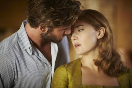 Liam Hemsworth and Kate Winslet in a scene from the movie The Dressmaker. Supplied by Universal Pictures. Photo to Ben King.