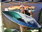 Sunshine Coast Home Show and Caravan, Camping and Boating Expo at Kawana. Dave West from CTRL V surfboard art. Photo: Warren Lynam / Sunshine Coast Daily