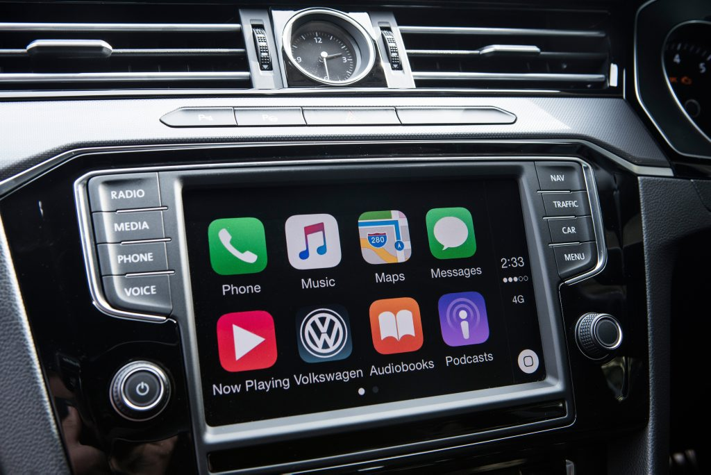 PHONE CONNECTIVITY: Generation II infotainment has App-Conect to work with Apple and Android phones
