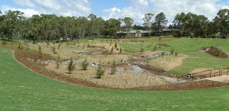 The Garnet Lehmann Park Detention Basin.