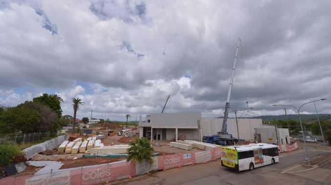 Walton Construction Coles site in development mode in Nambour.