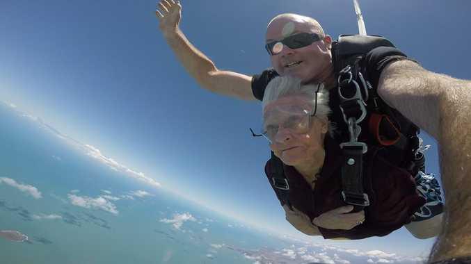 Shirley Dunham skydiving