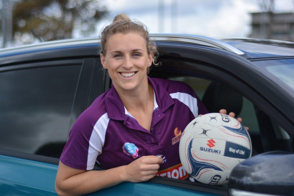 SUZUKI LOVE: Australian international netballer Gabi Simpson says her Suzuki Vitara has space for long-legged teammates