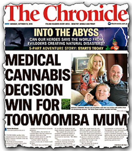 CAMPAIGN: Yesterday's front page of The Chronicle.