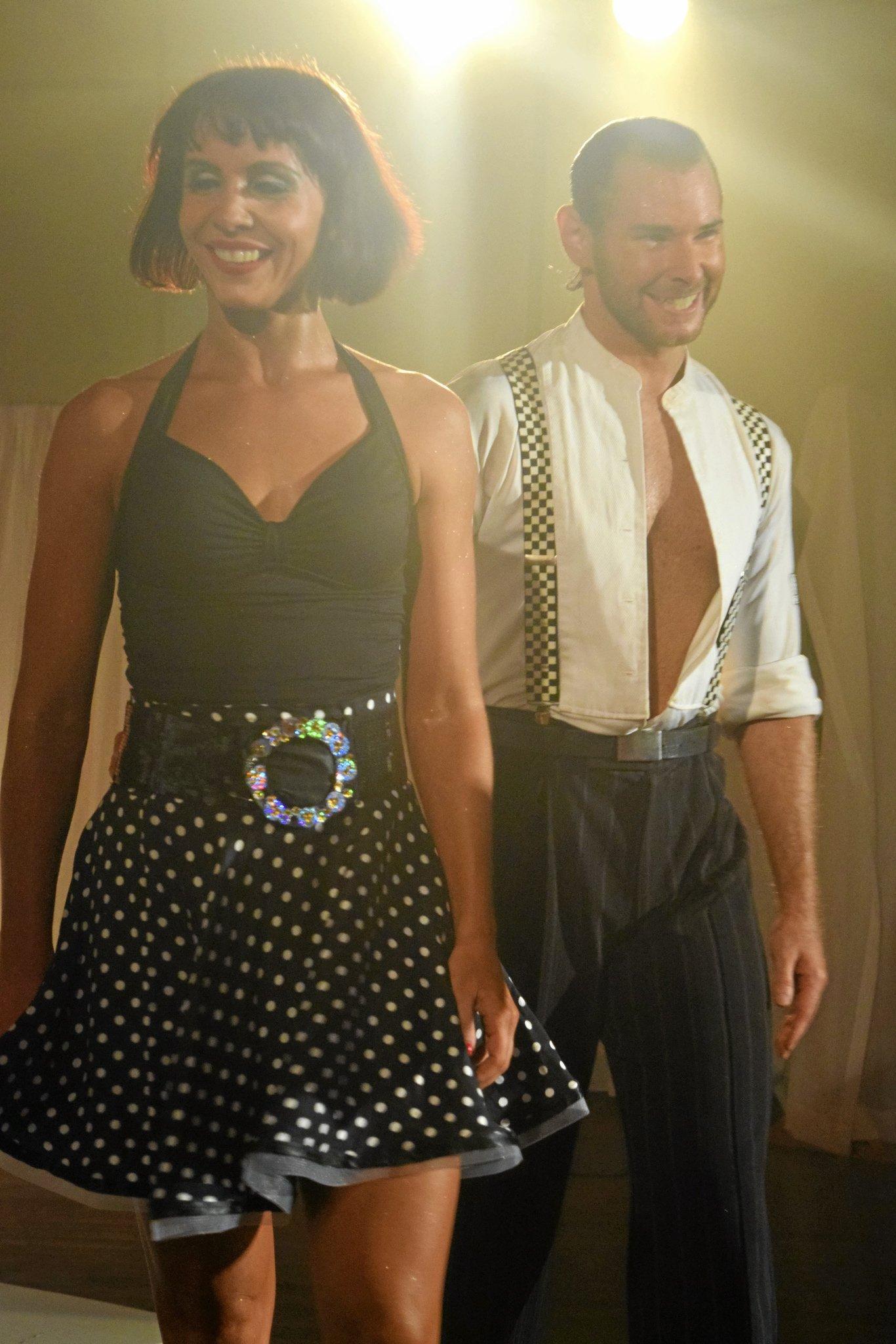 Latin American Showdance champions Justin and Amy Sharrock.