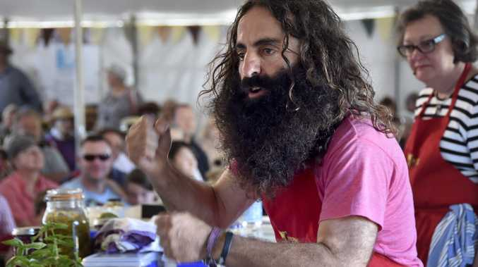 GARDENING GURU: Costa Georgiadis at the Felton Food Festival this year.