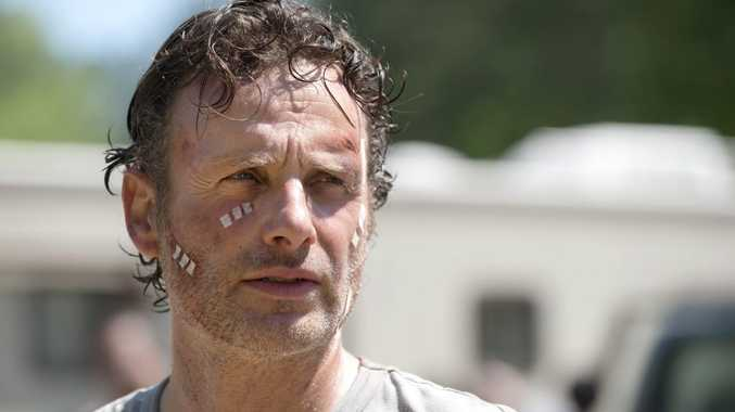 Andrew Lincoln as Rick Grimes in a scene from The Walking Dead. Supplied by Foxtel. Please credit photo to Gene Page/AMC.