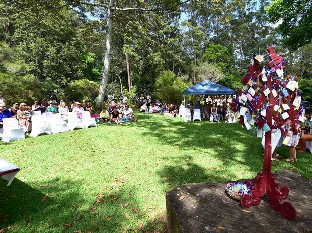 Sands Sunshine Coast 'Walk to Remember' at Maroochy Bushland Botanical Gardens.