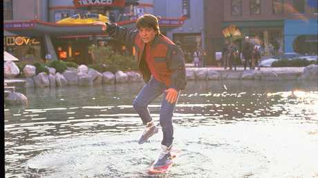 Michael J Fox in a scene from Back to the Future Part II.