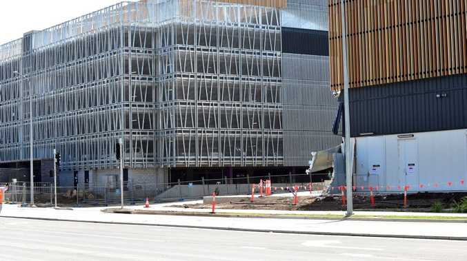 Kawana Way reopened yesterday but work on the hospital site is yet to resume.