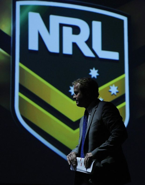 NRL CEO David Smith speaks at the NRL Season Launch in Sydney, Wednesday, Feb. 27, 2013. (AAP Image/Mick Tsikas) NO ARCHIVING