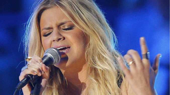READY TO ROCK: Kelsea Ballerini performing at the CMT Music Awards in Nashville.