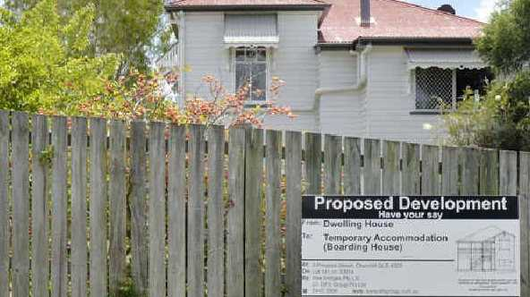 SIGN TELLS ALL: Residents of Princess St, Churchill were alerted to the proposal when this sign went up.