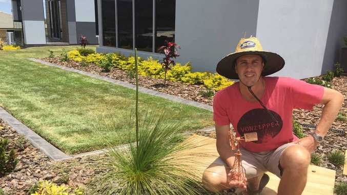 GREEN THUMB: Wayne Lauga won the best novice garden under 12 months in the Livingstone Shire's garden competition.
