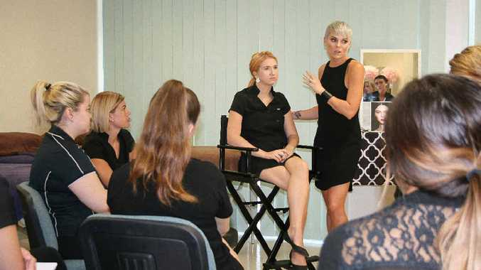 Kylie Sefton from Pro Makeup by Kylie teaches beauty students the basics of make-up.