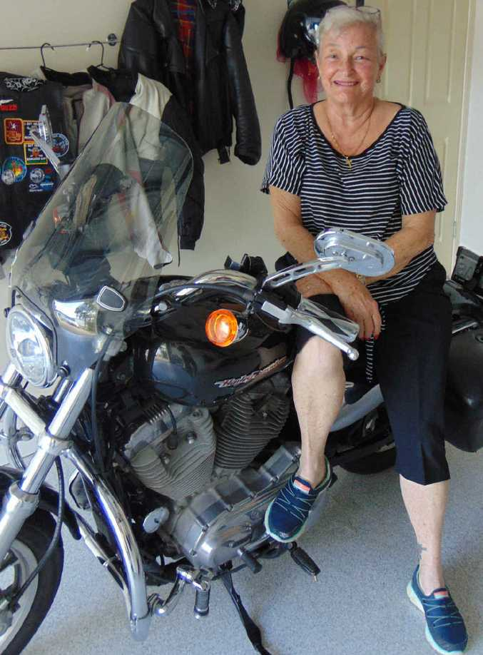 "NEXT STAGE: Geraldene Provost is saying a sad goodbye to her Harley but will ""get on"" with life."