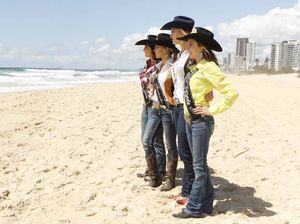 Rodeo queens hit the white sands of the Gold Coast