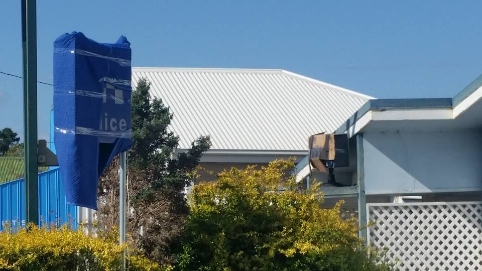 Killarney's CWA hall has been converted into a police station, fueling rumours that Home and Away hunk Steve Peacocke will appear in town to shoot the new television series Wanted.
