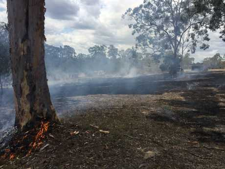 Firefighters have been called to a grassfire which is reportedly threatening a house at Chuwar.