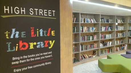 High Street Shopping Centre's little library.