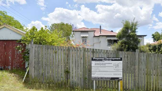 Churchill residents meeting to discuss plans for a halfway house at 3 Princess Street. Photo Inga Williams / The Queensland Times