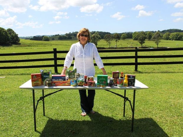 Anne Thompson, who runs the North Coast Drought Appeal, with an items which can be donated to struggling Australian farmers.