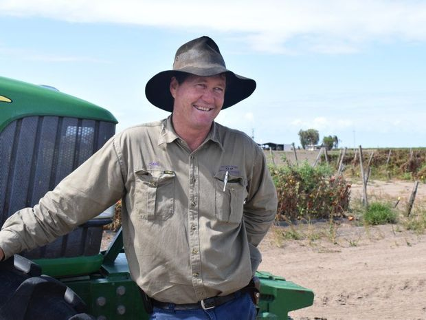 """""""I think in the future food should be a huge part of our foreign aid."""" Farmer Carl Walker. Photo: Emily Smith / The Daily Mercury."""