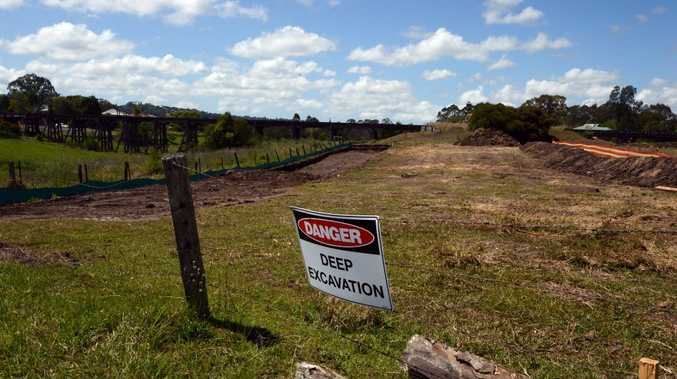 Excavation in North Lismore, on Dunoon Road near the showground. Photo Cathy Adams / The Northern Star