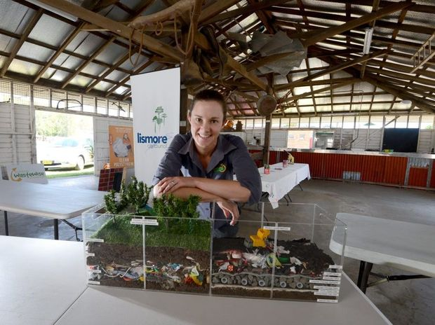 Lismore City Council Waste and Water Education officer Danielle Hanigan at the council's exhibit at the North Coast National. Photo Cathy Adams / The Northern Star