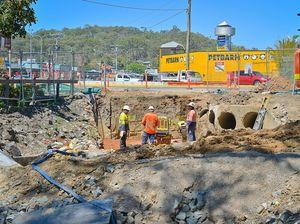Kin Kora roundabout taking shape as roadworks continue
