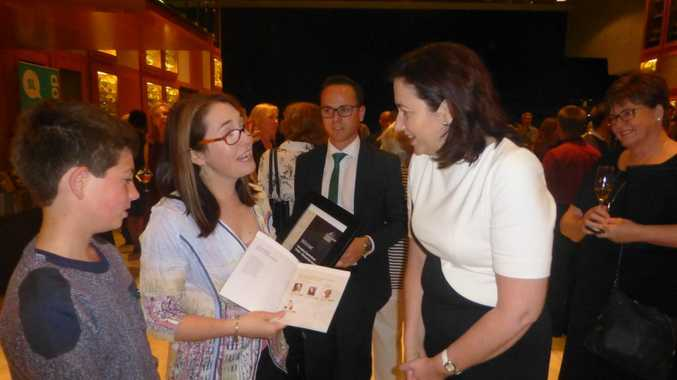 CAREER LAUNCHED: Liz meets with Queensland Premier Annastacia Palaszczuk at the awards ceremony