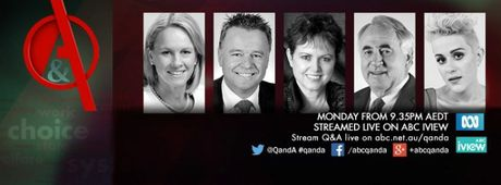 The panel will feature Rural Health Minister Fiona Nash, Shadow Minister for agriculture and rural affairs Joel Fitzgibbon, Toowoomba Mayor Paul Antonio, University of Southern vice chancellor Jan Thomas and singer songwriter Katie Noonan.