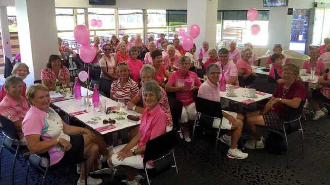 FUNDRAISER: A sea of pink at Hervey Bay Golf Club.