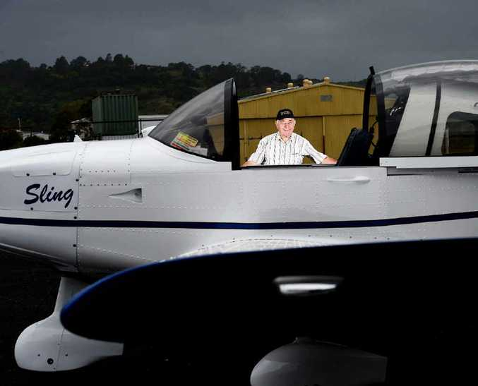 FLYING HIGH: Elio Zambelli spent 850 hours over 12 months putting together the Sling aircraft at the Lismore Aero Club.