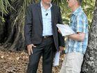 NO DEAL: Ray White auctioneer Justin Marsden talks to bidder Chris Lyons.