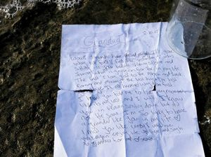 Fisherman finds touching message in a bottle for Grandad