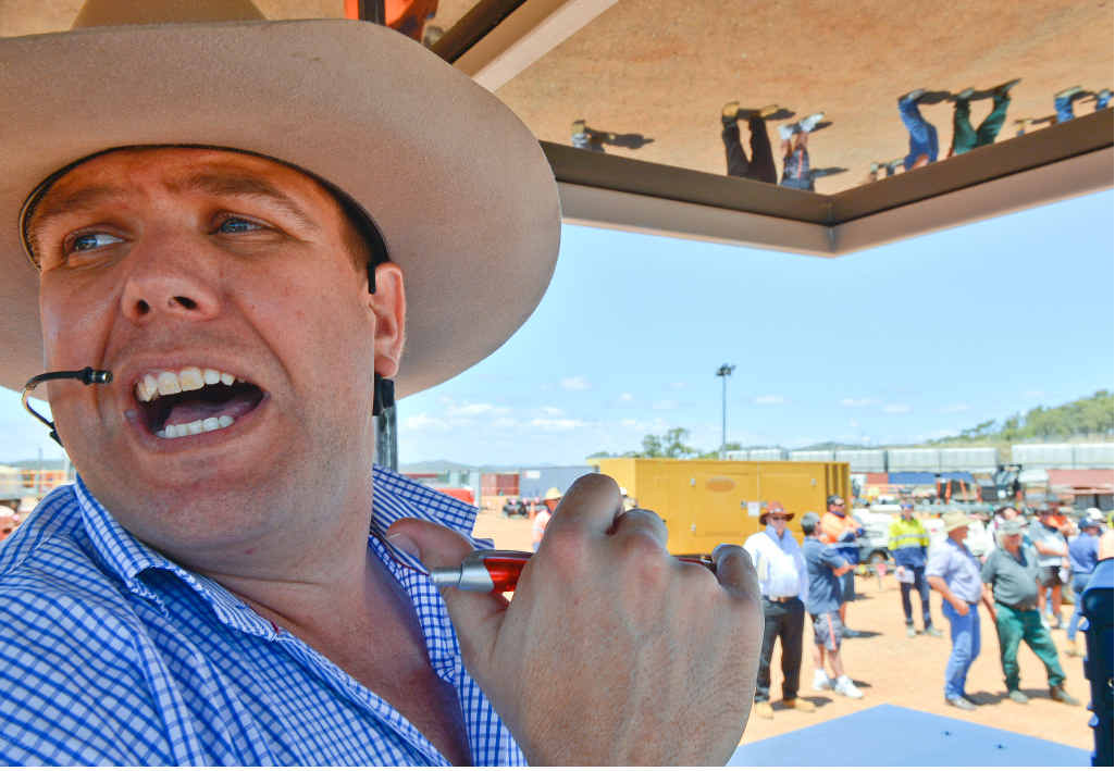 Auctioneer Russell Keast kept the pace moving.